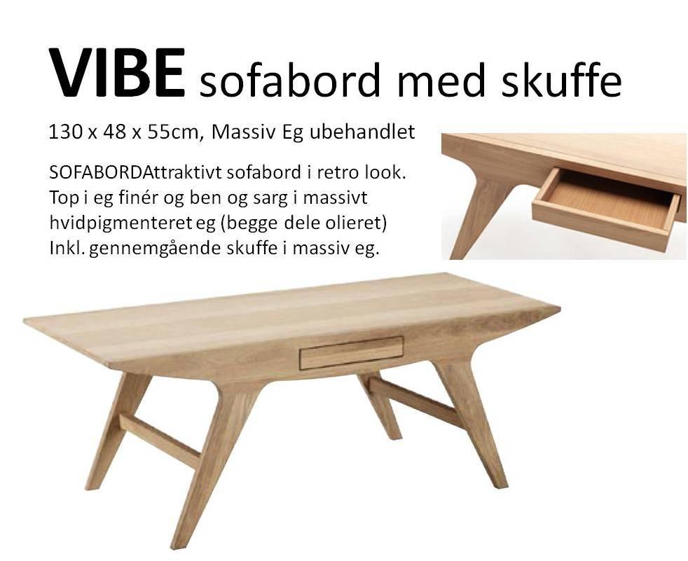Flott VIBE sofabord m skuffe EK-79